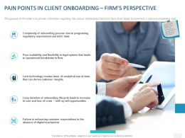 Pain Points In Client Onboarding Firms Perspective Ppt Powerpoint Presentation Slides Themes