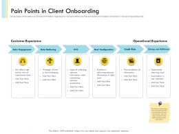 Pain Points In Client Onboarding Information While Powerpoint Presentation Format