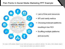 Pain Points In Social Media Marketing Ppt Example