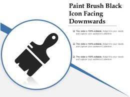 Paint Brush Black Icon Facing Downwards