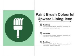 Paint Brush Colourful Upward Lining Icon