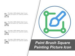 Paint Brush Square Painting Picture Icon