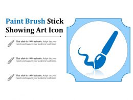 Paint Brush Stick Showing Art Icon