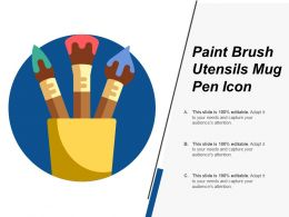 Paint Brush Utensils Mug Pen Icon