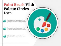 Paint Brush With Palette Circles Icon