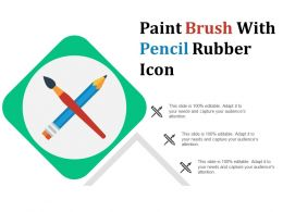 Paint Brush With Pencil Rubber Icon