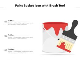 Paint Bucket Icon With Brush Tool