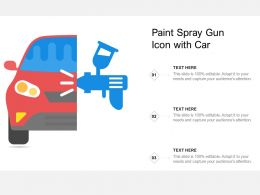 Paint Spray Gun Icon With Car