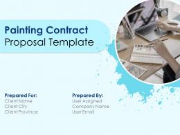 Painting Contract Proposal Template Powerpoint Presentation Slides