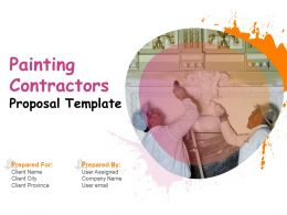 Painting Contractors Proposal Template Powerpoint Presentation Slides
