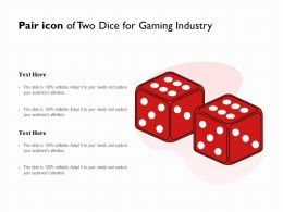 Pair Icon Of Two Dice For Gaming Industry