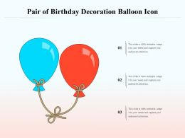 Pair Of Birthday Decoration Balloon Icon