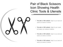 Pair Of Black Scissors Icon Showing Health Clinic Tools And Utensils