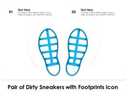 Pair Of Dirty Sneakers With Footprints Icon