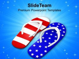 Pair Of Red White And Blue Footwears PowerPoint Templates PPT Themes And Graphics 0213
