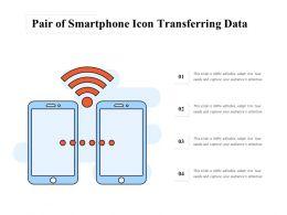 Pair Of Smartphone Icon Transferring Data
