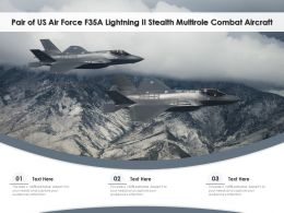 Pair Of US Air Force F35A Lightning II Stealth Multirole Combat Aircraft