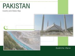 Pakistan Country And States Map Powerpoint Template
