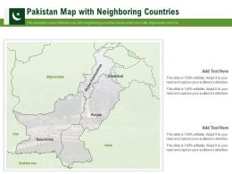 Pakistan Map With Neighboring Countries Powerpoint Presentation PPT Template