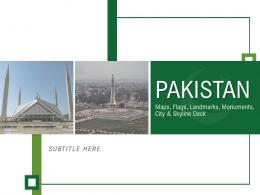 Pakistan Maps Flags Landmarks Monuments City And Skyline Deck Powerpoint Template