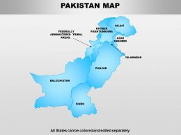 Pakistan Powerpoint Maps
