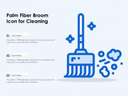 Palm Fiber Broom Icon For Cleaning