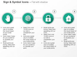 Palm Finger Print Lock Home Safety Ppt Icons Graphics