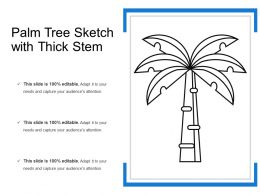Palm Tree Sketch With Thick Stem