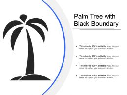 Palm Tree With Black Boundary