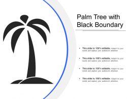 Palm Tree With Black Boundary