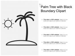 Palm Tree With Black Boundary Clipart