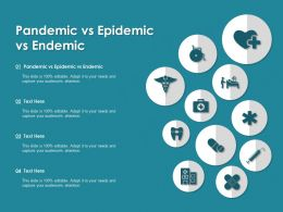 Pandemic Vs Epidemic Vs Endemic Ppt Powerpoint Presentation Layouts Templates