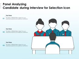 Panel Analyzing Candidate During Interview For Selection Icon