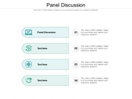 Panel Discussion Ppt Powerpoint Presentation Model Guide Cpb