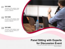 Panel Sitting With Experts For Discussion Event