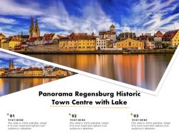 Panorama Regensburg Historic Town Centre With Lake