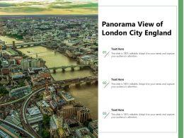 Panorama View Of London City England