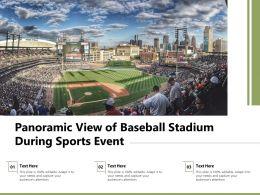 Panoramic View Of Baseball Stadium During Sports Event