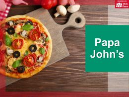 Papa Johns Company Profile Overview Financials And Statistics From 2014-2018