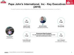 Papa Johns International Inc Key Executives 2019