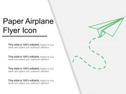 Paper Airplane Flyer Icon