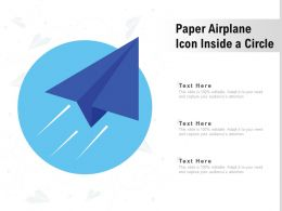 Paper Airplane Icon Inside A Circle