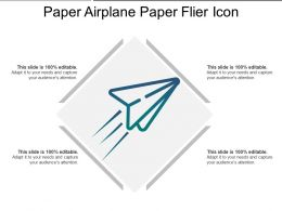 Paper Airplane Paper Flier Icon