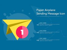 Paper Airplane Sending Message Icon