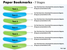 Paper Bookmarks Diagram With 7 Stages