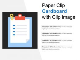 Paper Clip Cardboard With Clip Image