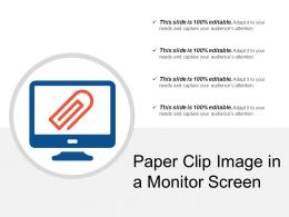Paper Clip Image In A Monitor Screen