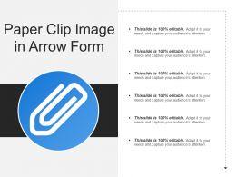 Paper Clip Image In Arrow Form
