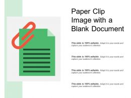 Paper Clip Image With A Blank Document