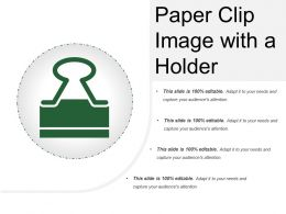 Paper Clip Image With A Holder